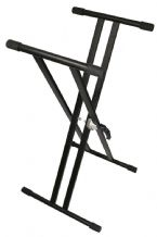 TGI KEYBOARD STAND. DOUBLE BRACED. BLACK